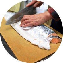 他の写真1: 丸小鮮魚店 サーモンの西京漬け・塩たらこセット